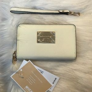 Michael Kors Wristlet, Saffiano Leather, Ivory